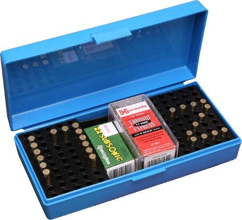 MTM 200 Round Small Bore Ammo Box .22 Long Rifle (Blue) (Rim Fire Ammunition compare prices)