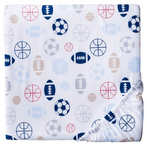 Circo Fitted Crib Sheet Sports Balls - 1