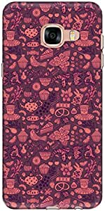 The Racoon Grip Chai the Tea Pink hard plastic printed back case/cover for Samsung Galaxy C5