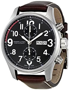 Hamilton Men's H71716533 Khaki Black Dial Watch