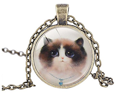 [Luck Wang Woman's Unique Fashion Retro Kitty Fashion Time Gemstone Pendant Necklace£¨2#£] (Different Types Zombie Costumes)