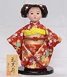 【市松人形】【翠仙作】【日本の人形】花茉莉【市松人形】v0852c【創作市松8号】ケース付き