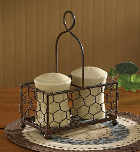 Metal Wire Basket for Salt and Pepper Containers
