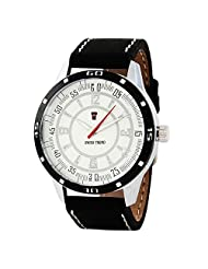 Swiss Trend Stylish Mens Watch With Black Leather Strap(Artshai1648)