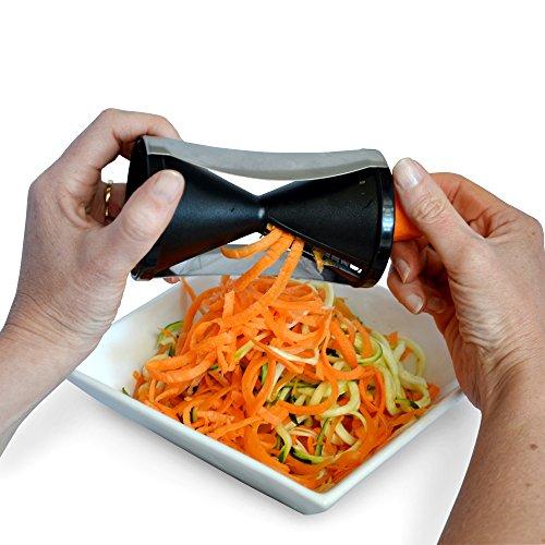 spiralizer spiral slicer vegetable cutter zucchini spaghetti pasta noodle maker ceramic peeler. Black Bedroom Furniture Sets. Home Design Ideas
