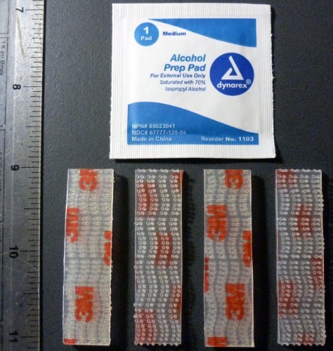 Ezpass I-Pass Holder Velcro Tape 3M Dual Lock Adhesive Mounting Strips W/ Wipe