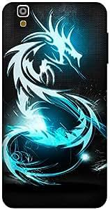 The Racoon Lean Blue Dragon hard plastic printed back case / cover for Yu Yureka