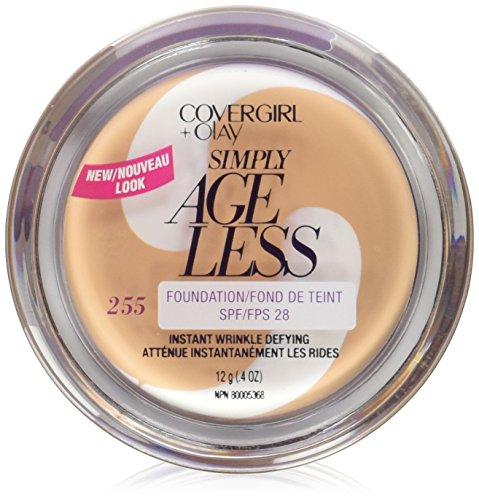 CoverGirl & Olay Simply Ageless Foundation, Soft Honey 255, 0.40-Ounce Package