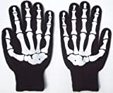 Skeleton Work Gloves with Rubber Grippers on Palm X-ray Gothic Goth Punk Emo Rockabilly