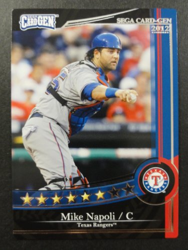 【SEGA CARD GEN MLB】セガ カードジェンMLB 2012 黒カード J12-166 マイク・ナポリ