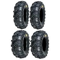 cheap atv tires-Full set of Sedona Mud Rebel 25x8-12 and 25x11-10 ATV Tires