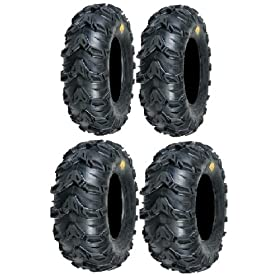 cheap atv tires-Full set of Sedona Mud Rebel 25x8-12 and 25x11-10 ATV Tires