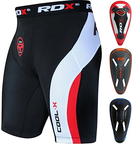 RDX Compressione Boxe Thai Pantaloncini Sudore Termici MMA Compression Shorts Boxer Uomo Base Layer