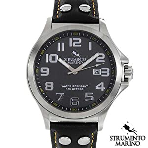 Harbour SM046LSS/BK Men's Stainless Steel Watch