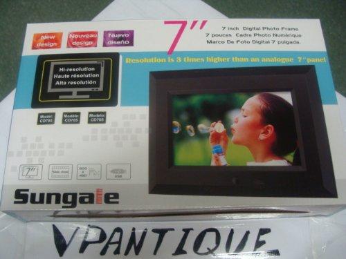 digital picture frame sungale 7 inch digital photo frame