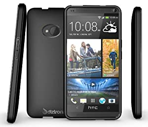 Diztronic Matte Back Black Flexible TPU Case for HTC One (2013) - Retail Packaging