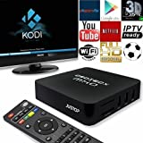 "JUSTOP Droibox MX Q Quad core TV box, installed with KODI (formerly named as XBMC) plus  ""TV box Wizard"" make sure the box updated.   Quad-core Android 4.4 Kitkat TV turn your TV into a smart TV straight away. Blasting at warp speed into your..."