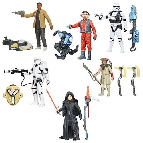 Hasbro Year 2016 Star Wars: The Force Awakens 3 3/4-Inch Snow and Desert Action Figures Wave 5 Set of 6
