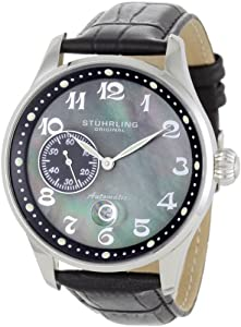 Stuhrling Original Men's 148A.BH.33151 Classic Lineage Grand Automatic Mother-Of-Pearl Date Watch