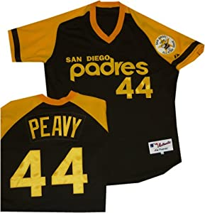 San Diego Padres Jake Peavy Authentic Throwback Jersey by Majestic