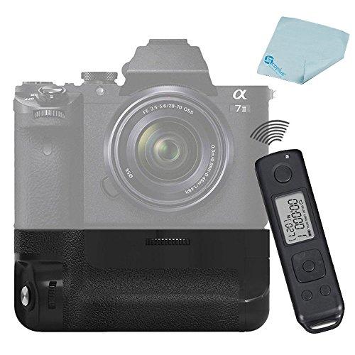 Meike MK-A7II Pro intégré 2.4 GHz radiocommande batterie Grip pour Sony A7 II comme Sony VG-C2EM + Mcoplus, chiffon de nettoyage