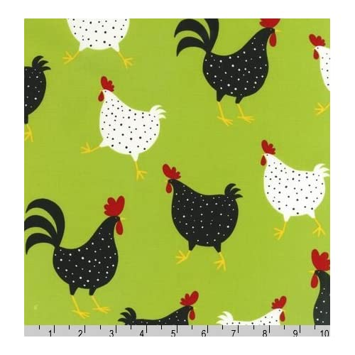 Chicken Fabric One Yard (0.9m) AEK-11219-50 - Home And Garden Products