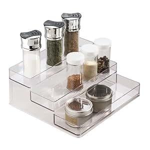 Countertop Spice Organizer : ... Countertop or Cabinet Stadium Spice Rack Organizer, Clear - Spice Rack