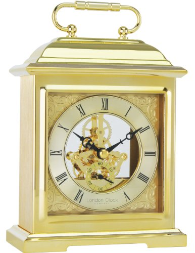 Gold Effect Skeleton Mantle Clock 04106