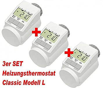 set 3 x heizk rper thermostat heizregler thermostatventil. Black Bedroom Furniture Sets. Home Design Ideas