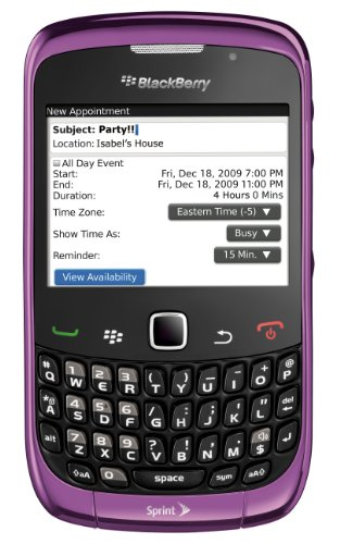 BlackBerry Curve 9330 Phone, Purple (Sprint)