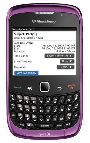 BlackBerry Curve 9330 Phone, Purple (Sprint)