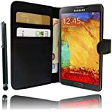 Etui Housse Luxe Portefeuille pour Samsung Galaxy Note 3 N9000 + STYLET et 3 FILM OFFERT !