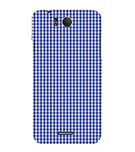 Blue Checks Pattern 3D Hard Polycarbonate Designer Back Case Cover for InFocus M530