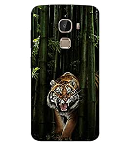 ColourCraft Roaring Tiger Design Back Case Cover for LeEco Le 2