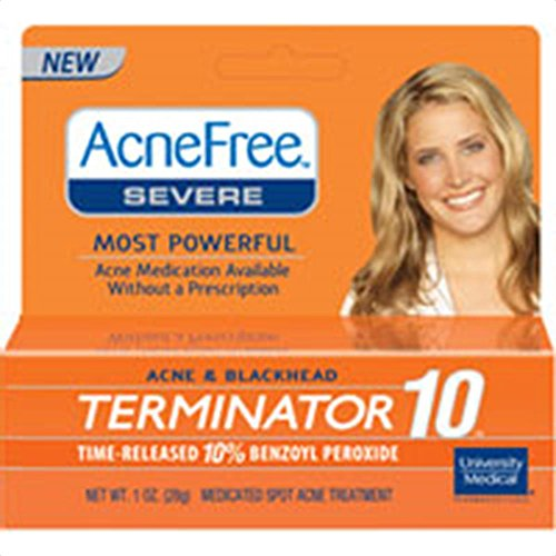 AcneFree severe acne and blackhead terminator 10 with 10% Benzoyl Peroxide 1 Ozベンゾイルニキビ用 並行輸入品
