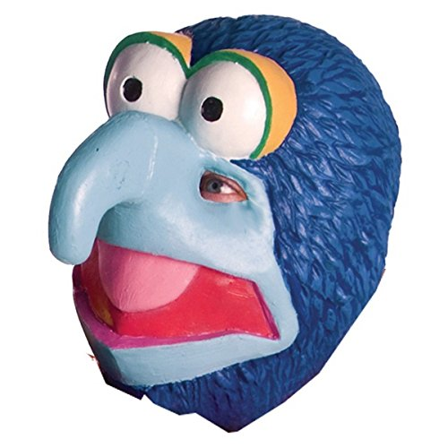 [Gonzo Mask The Muppets Adult Mens Costume Accessory Halloween Male Funny] (Gonzo Adult Costumes)