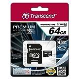 Acquista Transcend Micro SD 64 G, senza adattatore, con supporto UHS1, classe 10