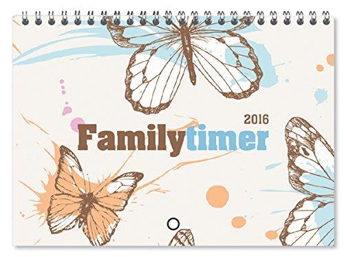Familytimer Home & To Go Butterfly 2016 - Familientermine / Familienplaner (15 x 21) - 1 Woche 2 Seiten - mit Ferienterminen - 6 Spalten, Buch
