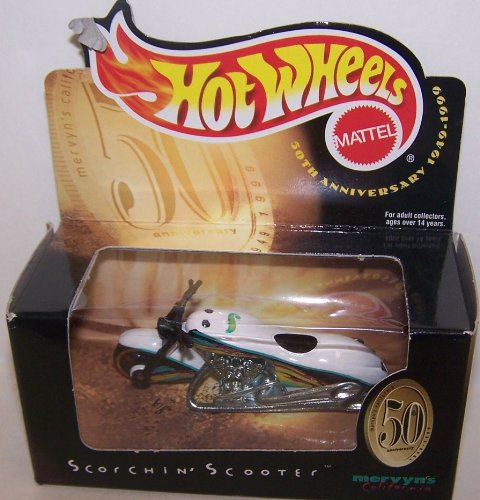 Mattel Hot Wheels 1/64 Scale Diecast Mervyn's California 50th Anniversary Only Sold At a Mervyn's Scorchin Scooter - 1