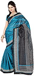 Shree Creation Women's Art Silk Saree with Blouse Piece (Blue)