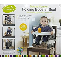 MASTELA DELUXE COMFORT FOLDING BOOSTER SEAT - 07330 (GREY)