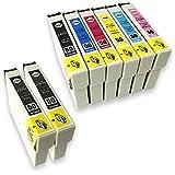 [SkyERIS] EPSON 互換インクカートリッジ IC6CL50+ICBK50(2本) 6色パック+ブラック2本 (8本セット) [フラストレーションフリーパッケージ(FFP)]
