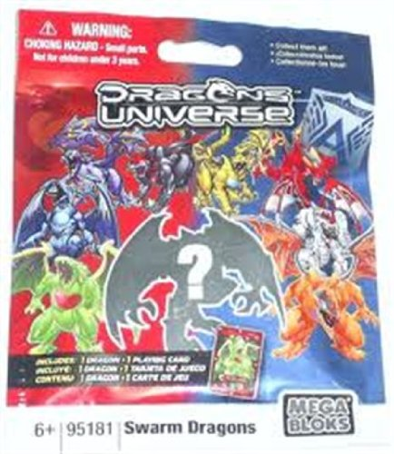 Dragons Universe Mega Bloks #95181 Series 2 Swarm Dragons Minifigure Mystery Pack 1 RANDOM Mini Figure