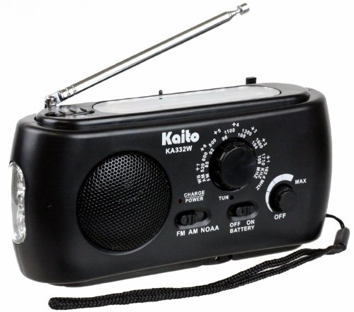 Kaito Emergency Solar Hand Crank Am/Fm Weather Radio With Flashlight