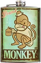 Drunk Monkey Stainless Steel Flask