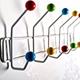 12 HOOK COLOURFUL WALL COAT HOOKS RACK COLOR BUD mounted hanger pegs from XTRADEFACTORY