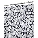 InterDesign Ringo Shower Curtain - Black/Gray