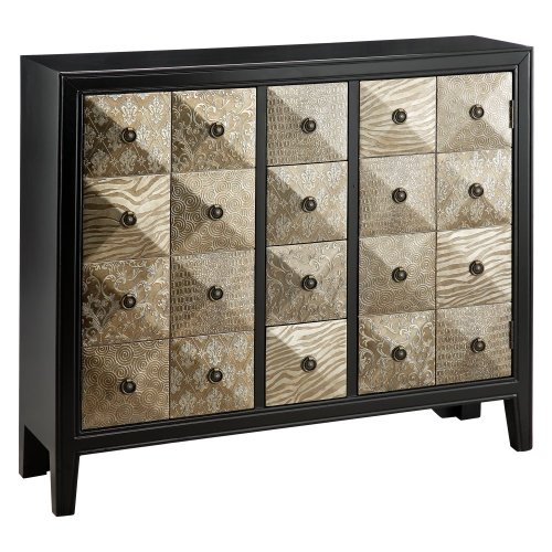 Stein World Furniture Swank Accent Chest, Metallic Black, Pewter