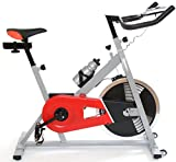 Fitness Bike for Home Workout Gym Master Exercise Machine in Red, 13kg Flywheel, Aluminium Sports Bottle