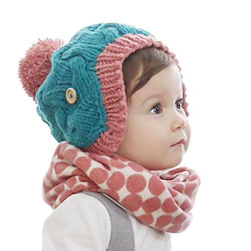Bestpriceam Baby Boys Girls Knitted Scarf Kids Winter Warm Neckerchief (Red)